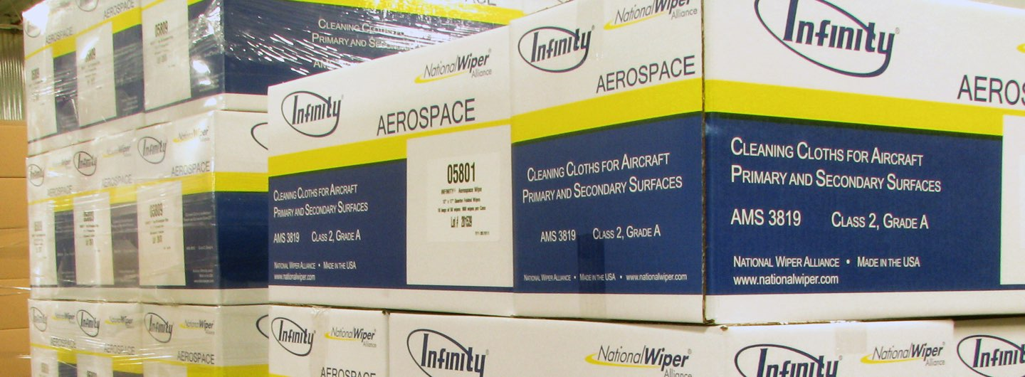Boxes Of Cleaning Cloths For Aircraft National Wiper Alliance