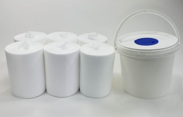 #07129 Infinity® Refillable Wiping System - 1 bucket & 6 rolls